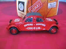 Norev collection 1/43 superbe Citroen 2CV < double avant > Pompiers Cogolin N/B