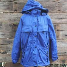 Eddie Bauer Womens Blue Purple Hooded Insulated Parka Size M