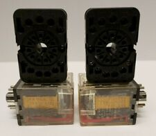 Elesta Skr115a Relay 10a 220vac 11 Pins With Base Zkr118 4 Piece Lot Used