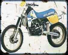 Husqvarna Te 510 88 A4 Metal Sign Motorbike Vintage Aged