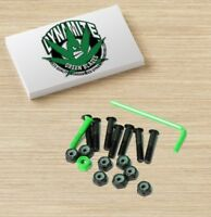 "Dynamite Forever Bolts 1"" Inch Green Blazes Skateboard Hardware New"