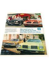 1974 Pontiac GTO and Firebird 2-page - Vintage Advertisement Car Print Ad J414