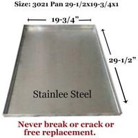 """Dog Crate Tray Pet Crate Pan Stainless Steel Chew Proof Tray-29-1/2""""x19-3/4""""x1"""""""