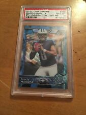 Marcus Mariota 2015 Topps Chrome Blue Wave Refractor #150 PSA 10 Rookie Card