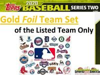 TORONTO BLUE JAYS 2020 Topps Series 2 GOLD FOIL TEAM SET (12 Cards) PRESALE
