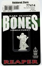 Reaper 77414 Bones Halabarad Cleric (1) Miniature Warrior-Priest Champion Hero