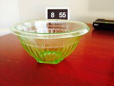 Vintage Art Deco Green Depression Glass Round Bowl