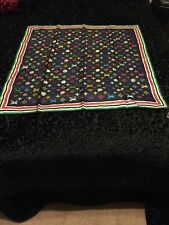 Louis Vuitton Takashi Murakami Black Silk Eye Love You Scarf Large Size