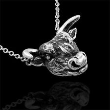 Sterling Silver Antique Finish Taurus Zodiac Pendant