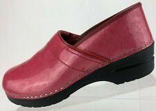 Sanita Danish Clogs  Nursing Professional Pink Patent Work Shoes Womens 41 US 10