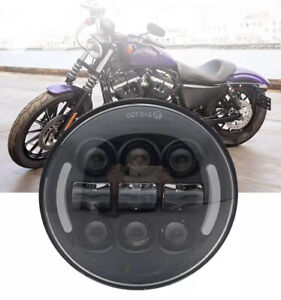 """5.75"""" LED Daymaker Headlight with Angle Eye for Indian Scout & Bobber Motorcycle"""