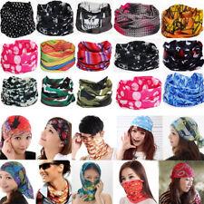 Unisex Neck Face Mask Tube Multi Colors Snood Bandanas Sport Scarves Outdoor