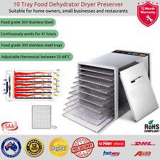 Commercial Electric Food Dehydrator 10 Tray Dryer Biltong Beef Jerky Fruit