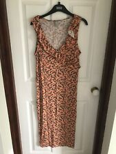 Asos Maternity Dress Size 12, midi, coral
