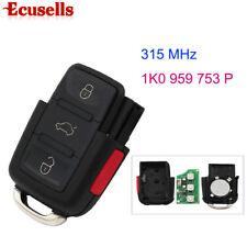 Folding Remote Control Key 3+1 Button 315MHz For VW CC Jetta 1K0 959 753 P