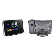 LED proyector proyección alarma reloj estación meteorológica calendario