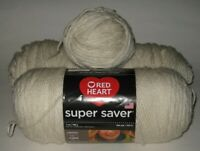 Red Heart Super Saver Yarn Color #313 Aran 1 Full & 1 Partial Skeins + Ball