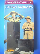 NEW! SEALED! Bud Abbott and Lou Costello AFRICA SCREAMS Frontrow 1992 VHS