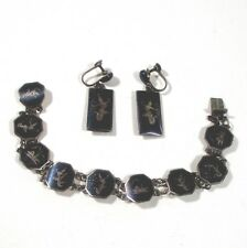 "1.4"" srewback earrings ᵂ j3 Siam sterling silver 7.25"" bracelet &"