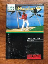 Waialae Country Club Golf SNES Super Nintendo Instruction Manual Only