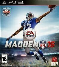 Madden NFL 16 RE-SEALED Sony PlayStation 3 PS PS3 GAME 2016 2K16