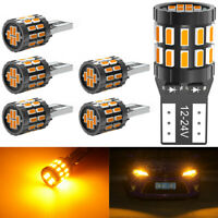 6X 12V T10 194 168 W5W SMD LED voiture CACHÉE Ambre CANBUS Erreur Ampoule Wedge