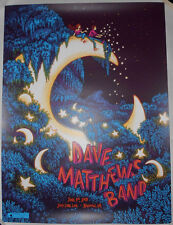 Dave Matthews Band 2018 Bristow Print Poster James Flames Glow In The Dark S/N