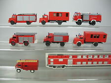 AI781-0,5# 7x Wiking/Roco H0 Modelle: Unimog/LKW Mercedes-Benz MB Feuerwehr/FW