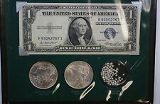 """""""The Silver Story"""" Including Nice Morgan and Peace Dollar - Silver Certificate"""
