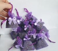 15 natural aromatic lavender flower bags with a bow, moth repellent  .Free P/P
