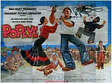 POPEYE Affiche Cinéma GEANTE / WIDE Movie Poster DISNEY ROBIN WILLIAMS