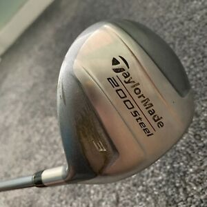 Taylormade 200 Steel 3 Wood Lite L-60 Graphite Shaft Right Handed