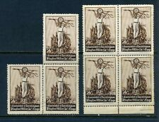 7 VINTAGE 1925  GERMAN SPORTS AND GAMES POSTER STAMPS (L743)