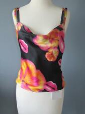 AUTHENTIC CHRISTIAN DIOR NEW S 38 SILK BLACK PINK LIPS PRINT SEXY TOP SMALL NWT