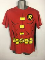 MENS RUBIE'S BATMAN'S ROBIN T-SHIRT WITH CAPE FANCY DRESS COSTUME EXTRA LARGE XL