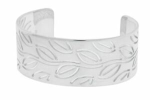 Enigma By Bulgari leaves Women's bangle in 925 sterling silver size large.