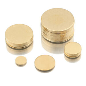 Raw Brass Round Blanks Dics Stamping Tags 15mm 18mm 20mm 25mm 30mm 40mm