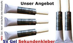 Sekundenkleber SUPER Gel 5 x= 100 g Modellbau Kleber ALLESKLEBER