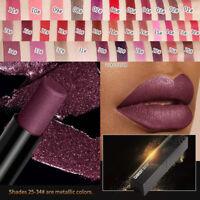Qibest Moisturizer Matte Waterproof Nude Liquid Lipstick Metal Lip Gloss Makeup