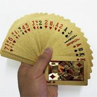 24K Gold Playing Cards Poker Game Deck Gold Foil Waterproof Plastic Magic Card