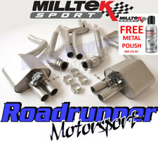 Milltek Audi RS6 C7 & RS7 Exhaust System Cat Back Non Resonated Louder SSXAU365