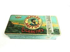 VINTAGE ADVERTISING  EMPTY PLAYERS CIGARETTE  TOBACCO TIN  101-