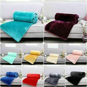 Faux Fur Fleece Throw Soft Warm Mink Large Sofa Bed Blanket