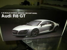 1:18 Kyosho Audi r8 GT Ice silver/argent Nº 09218is OVP