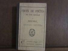 GUSTAVE MERLET/ CHOIX DE POETES DU XIXe siècle