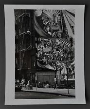 Leon Supraner New York Vintage Silver Gelatin Photo XL Viva Puerto Rico Graffiti