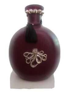 Handmade/Upcycled Bottle Vase - Purple - Octopus - Goth - Spike