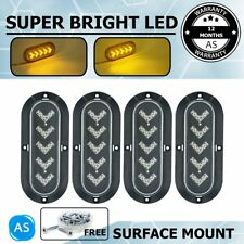 4 Pcs Amber Multi-Function Lights 25 LED Clearnace Van Trailer Truck Caravan 12V