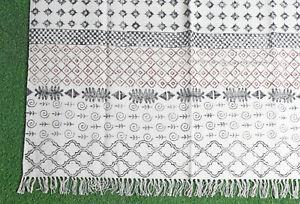 Handmade Cotton Dari Rug 4x6ft Floor Rug Area Rug Home Decorative Carpet Runner