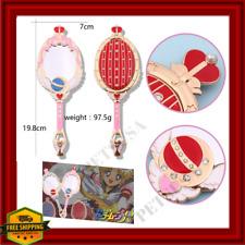 Anime Sailor Moon Metal Oval Hand Held Makeup Mirror Mange Wand Girl Crown Red